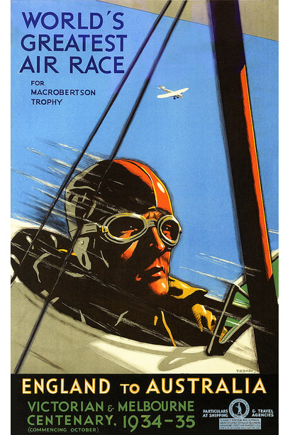 1934 London Melbourne MacRobertson Air Race Poster